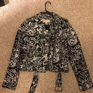 Michael Kors Graffiti leather jacket